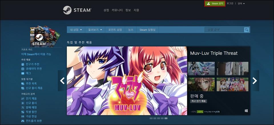 Steam 설치